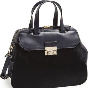 kate spade alice street luxe adriana calf hair bag